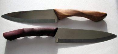 Chef Knives Teak and Bocote