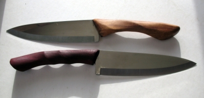 Chef Knives Teak and Bocote