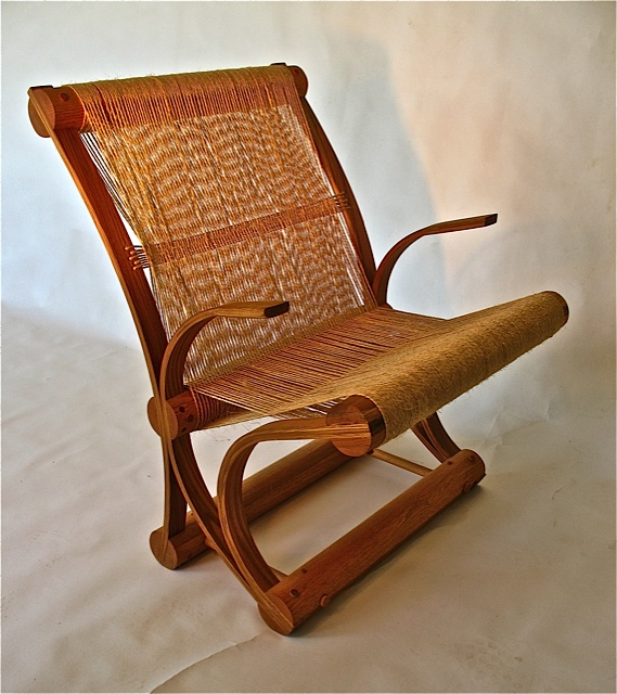 Elm and Sisal Chair